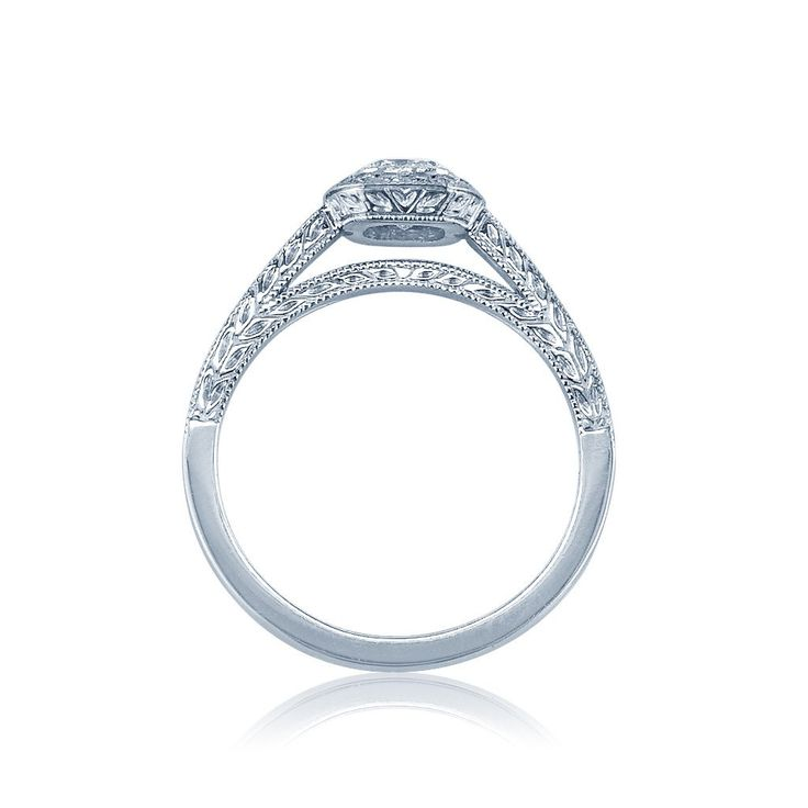 vintage hand engraved diamond engagement ring san diego - Wedding Rings San Diego
