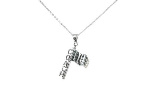 Sterling Silver Color Guard Flag Charm