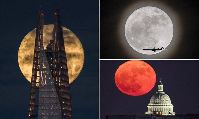 First sighting of 'supermoon trilogy' captured in spectacular photos
