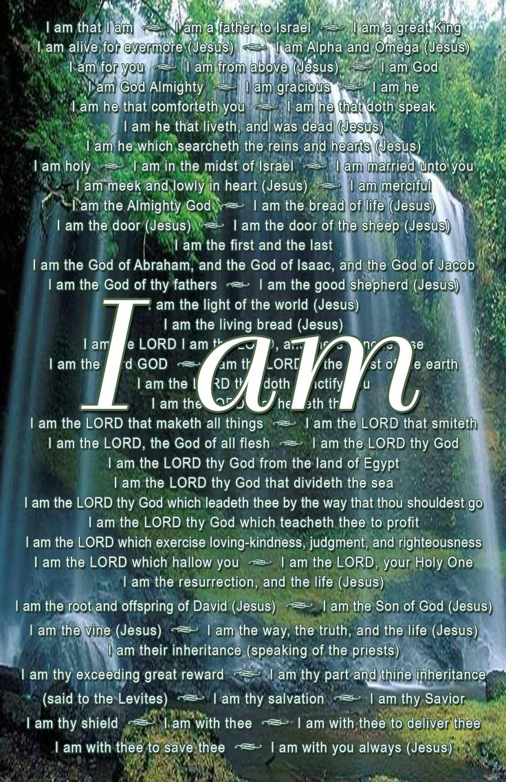 Father, Son and Holy Spirit.....I Am...