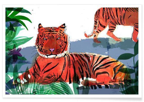 Tiger - Philippos Theodorides - Premium Poster