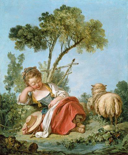 François Boucher - The Little Shepherdess