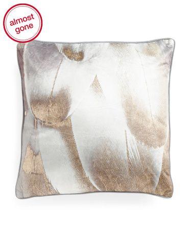 18x18 Velvet Feather Pillow
