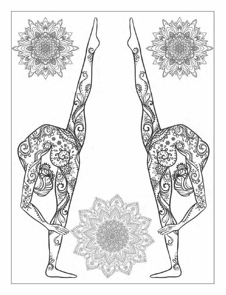 Pin by cenni vincent on yoga clipart | Coloring books ...