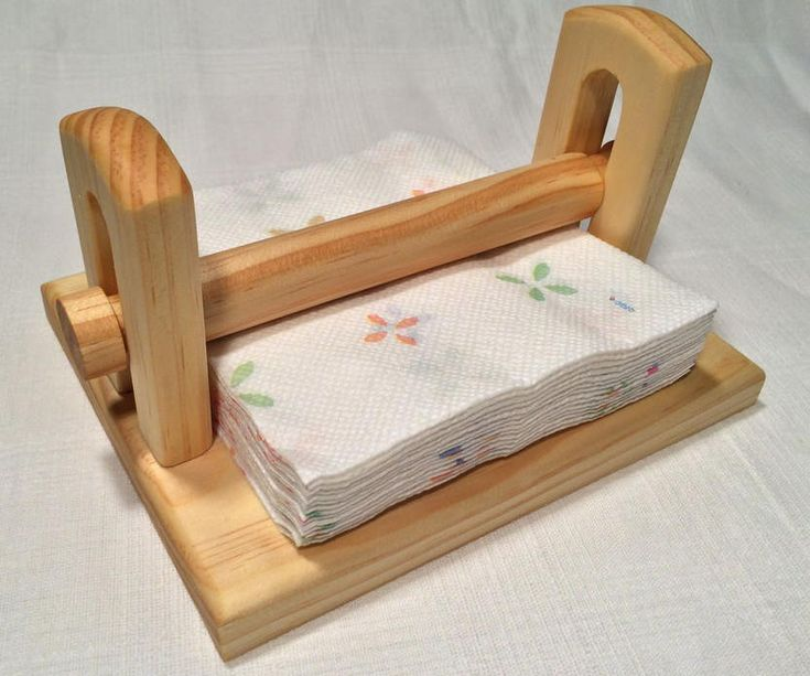 Wooden Homemade Napkin Holder