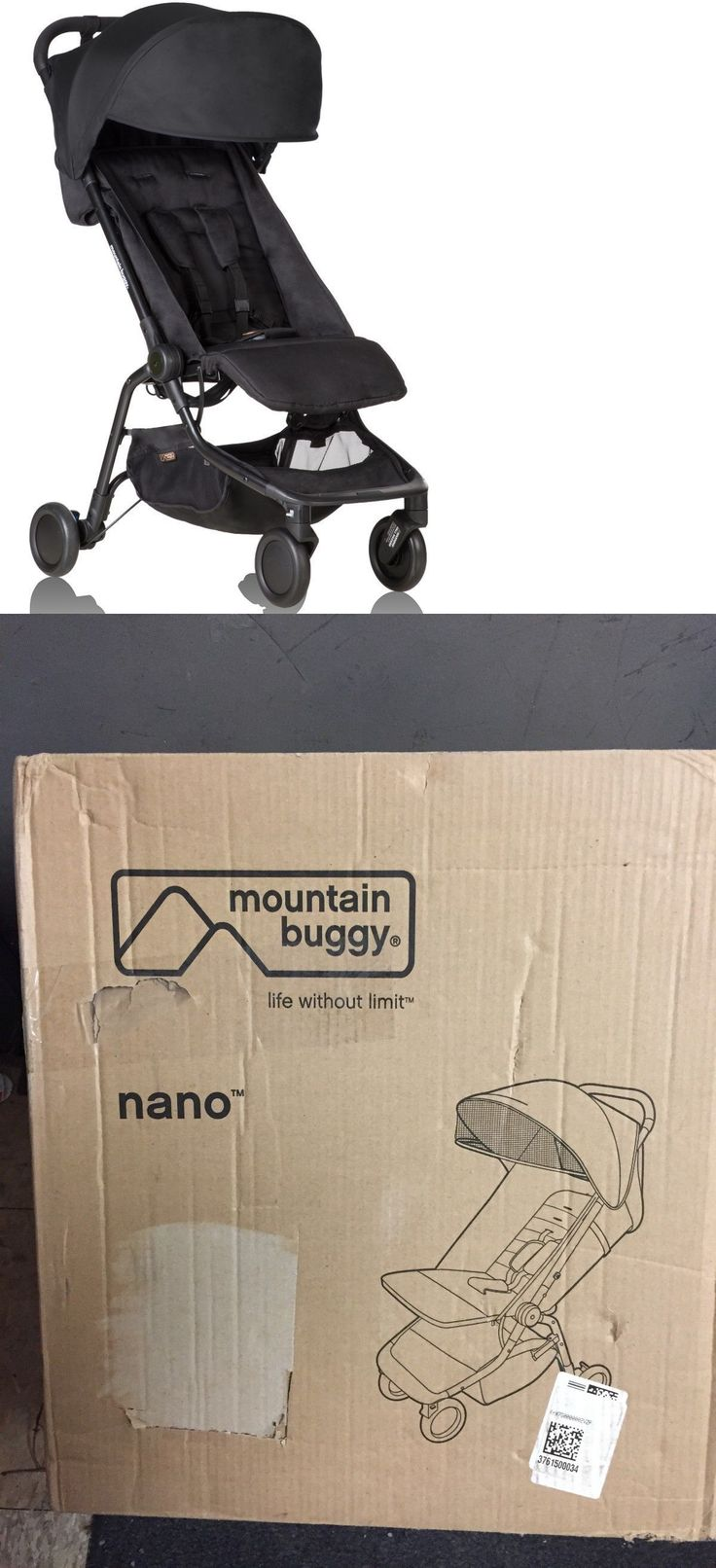 Other Stroller Accessories 180917: Mountain Buggy Nano V2 Lightweight Compact Fold Baby Travel Stroller Black 2015 -> BUY IT NOW ONLY: $179.99 on eBay!