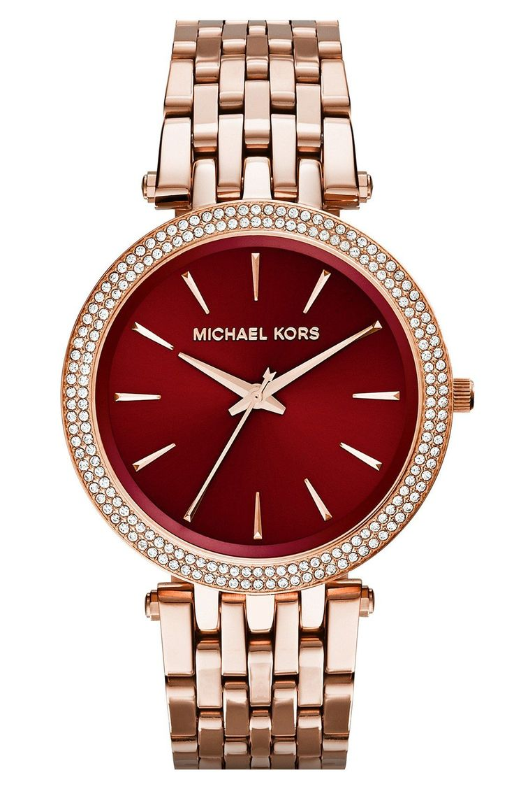 Beautiful burgunday-face watch for the holiday season (or all year round).