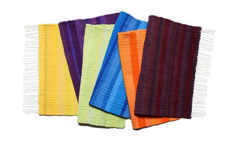 #colored #cushion #stool