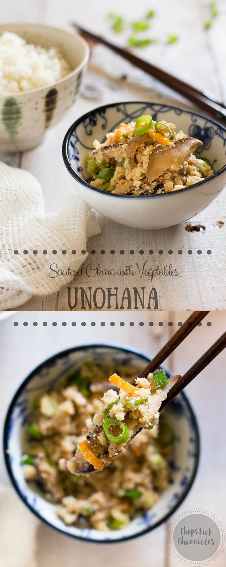 Unohana - Sauteed Okara with Vegetables | Chopstick Chronicles