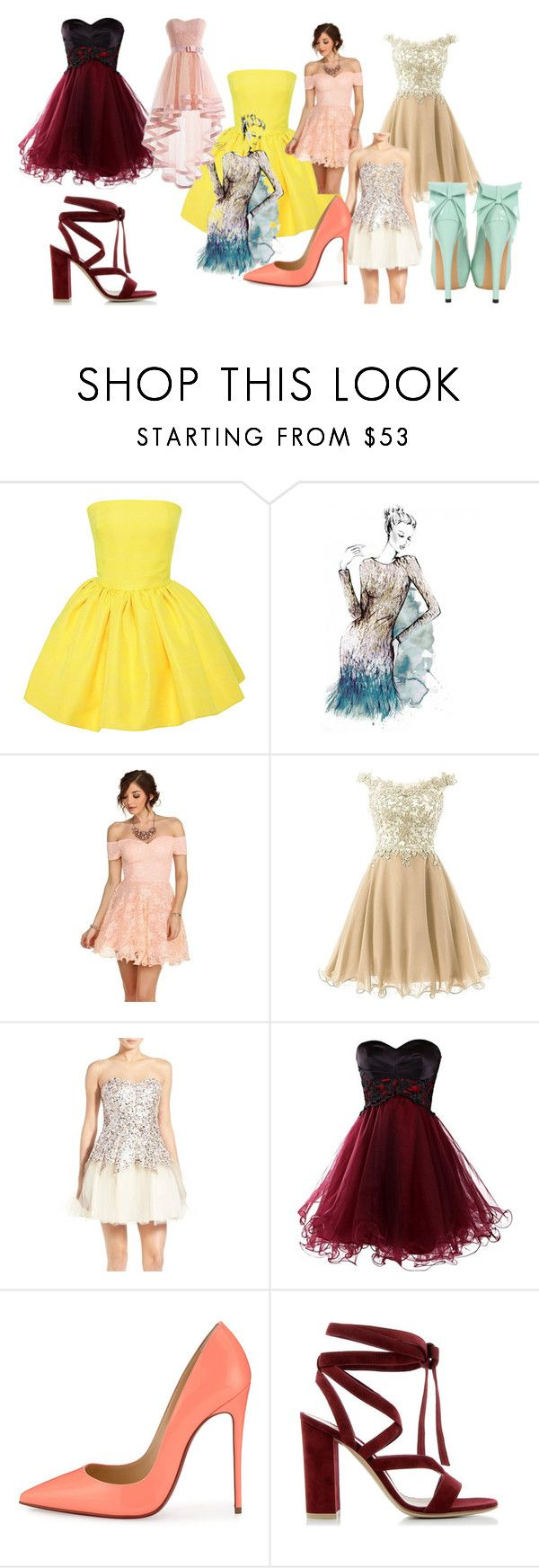 """""""dress"""" by rismasansella on Polyvore featuring Martin Grant, Matthew Williamson, Steppin' Out, Christian Louboutin, Gianvito Rossi, women's clothing, women, female, woman and misses"""