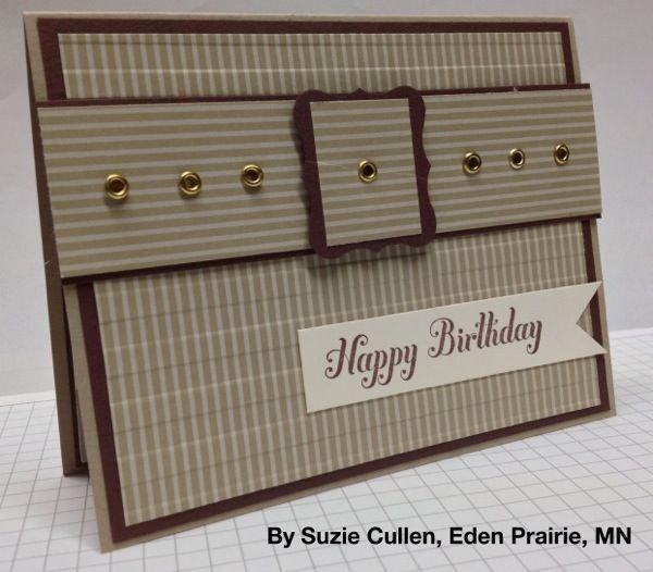 www.stampwithbrian.com - Suzie Cullen Great masculine card!