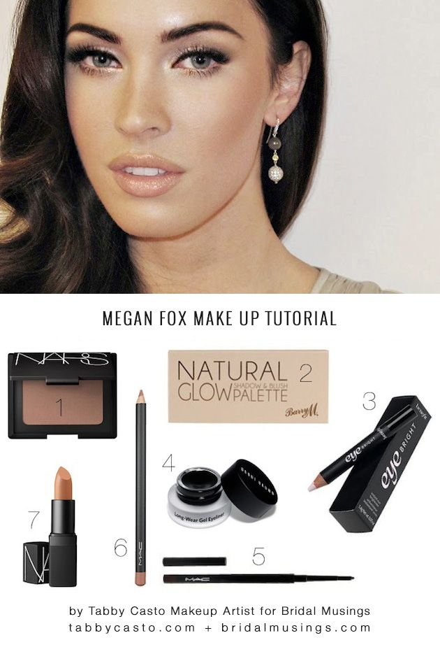 Want Megan Fox's gorgeous glow, defined eyes and sculpted brows? Check out this step by step tutorial by a top make up artist!