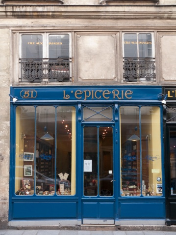 L'Epicerie, Paris, Ile De France, France -- The epicerie is a traditional grocers shop, in a town or city, and French food culture is maintained and nurtured by the interest and passion of the small retailer and the food knowledge that they preserve.