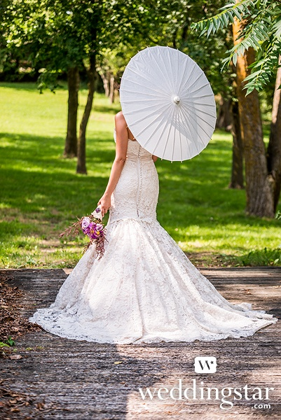 Paper Parasol with Bamboo Boning from our Equestrian Love Style Lookbook {white, #bridal, accessory, bride, rustic, farm, barn, outdoor wedding}