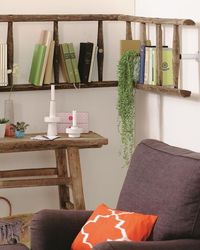There are so many great ways to use a decorative ladder in design both aesthetically and functionally. Come get ideas and a diy tutorial to make your own!