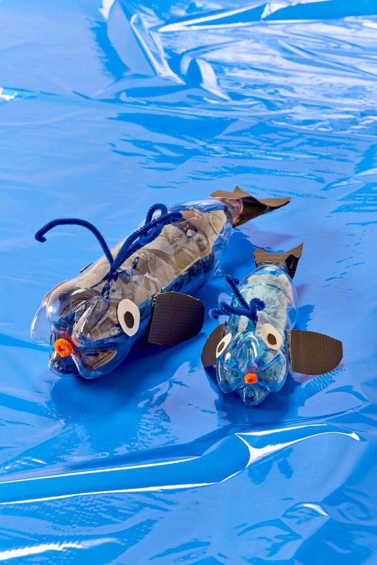 Fiskar av PET-flaskor - Lekolar Sverige