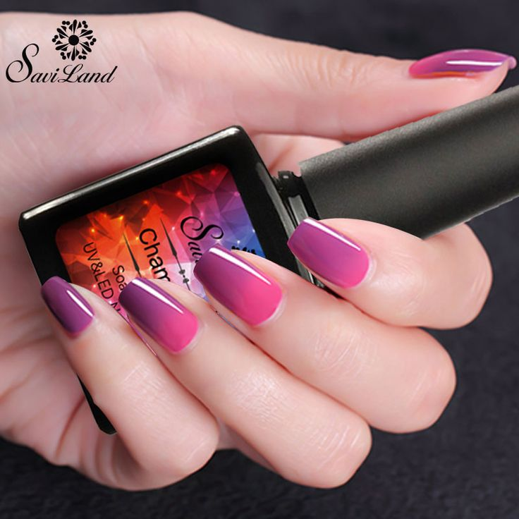 Saviland 1Pcs Thermo Varnish Polish Temperature Changing Nail Gel Polish 10ml Soak Off UV Gel Mood Change Nail Polish