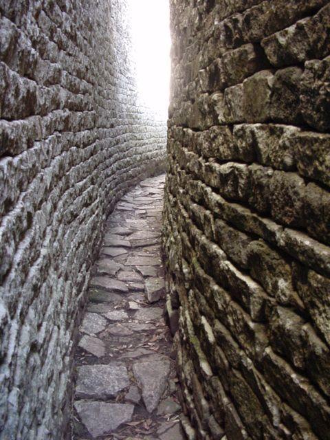Secure access path at Greater Zimbabwe Ruins