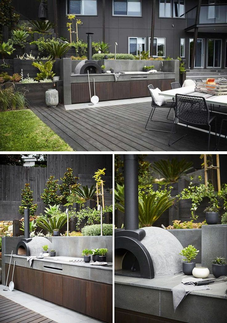 Best 25 modern outdoor kitchen ideas on pinterest for Outdoor kitchen wall ideas