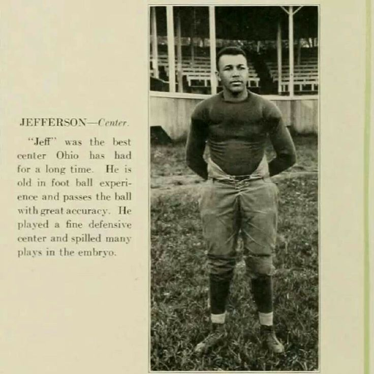 "All-Ohio center HARRY ""Big Jeff"" JEFFERSON (class of 1922) won three Black College National Championships as head coach of Bluefield (WV) State College. --- HARRY ""BIG JEFF"" JEFFERSON TO RECEIVE 2010 TRAILBLAZER AWARD --- Harry R. ""Big Jeff"" Jefferson, best known for his coaching career at Bluefield State College, has been named the American Football Coaches Association's recipient of the 2010 Trailblazer Award. The award will be presented posthumously at the AFCA President's Kickoff…"