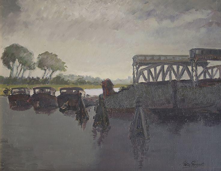 Nieuwpoort (Belgium) around 1970 - Oil on canvas