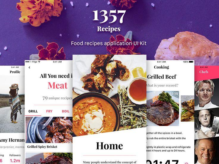 1357 Recipe App UI Kit