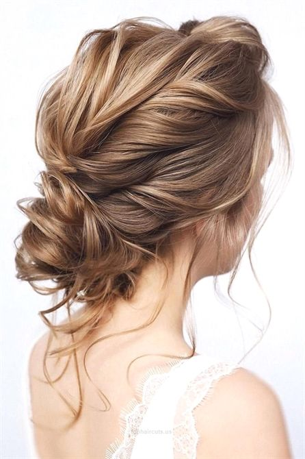 39 Wedding Hairstyles For Medium Hair ❤️ wedding hairstyles for medium hair elegant low curly updo with loose curls tonyastylist #weddingforward #...
