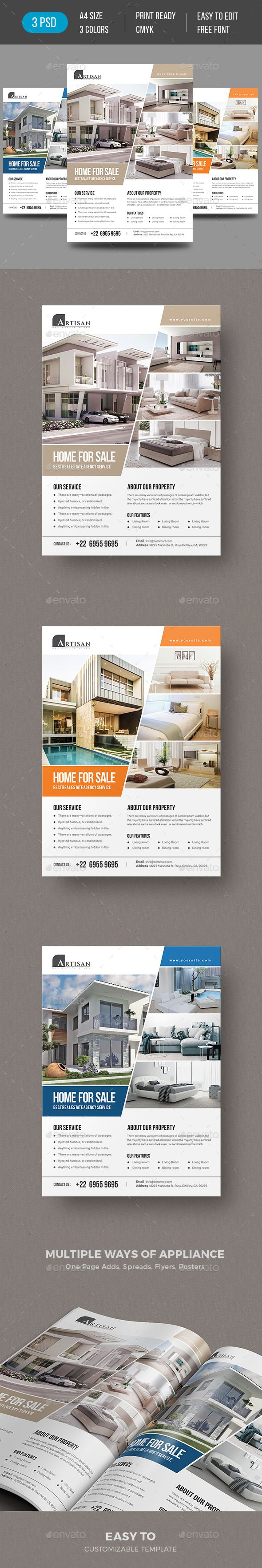 Real Estate Flyer #PSD Template Design suitable for open house events too. Download https://graphicriver.net/item/real-estate-flyer/19299308?ref=themedevisers