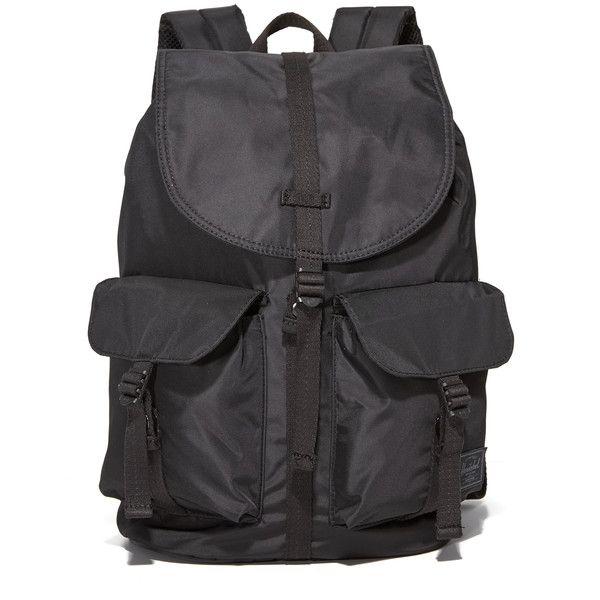 Herschel Supply Co. Dawson Backpack (125 CAD) ❤ liked on Polyvore featuring bags, backpacks, black, utility bag, knapsack bag, utility backpack, padded bag and magnetic bag