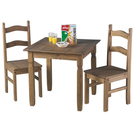 A rustic style compact two seater dining set ideal for small spaces. £103.99  http://www.worldstores.co.uk/p/Rio_2_Seater_Set.htm