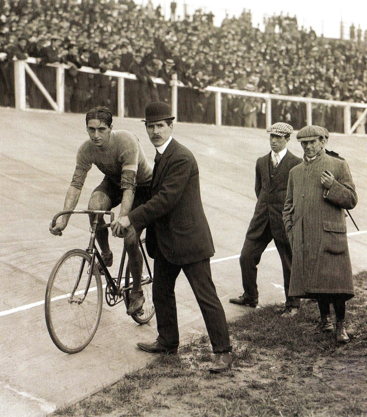 London Olympics 1908 - Charles Bartlett, Great Britain, gold medallist in the Cycling 100kmTrack event.