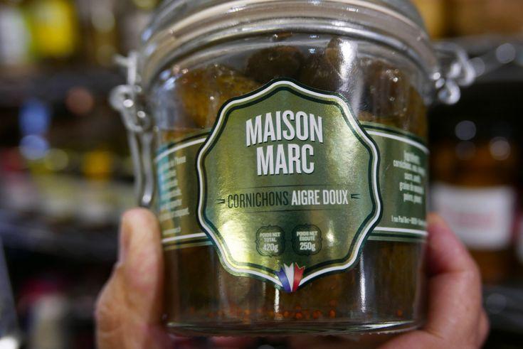 Artisanal French cornichons by an old producer Maison  Marc  available through American Gourmet: Rue du Général de Gaulle,Gustavia; Saint-Barthélemy 97133; tel. + 590 590 523 880