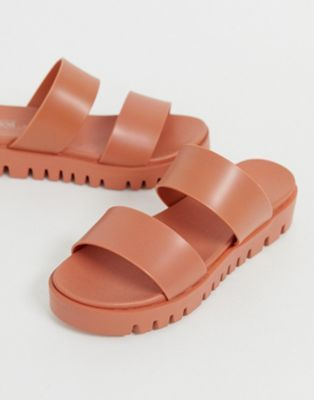 114efadf0b DESIGN Fletch chunky jelly flat sandals in 2019 | Buy | Sandals ...