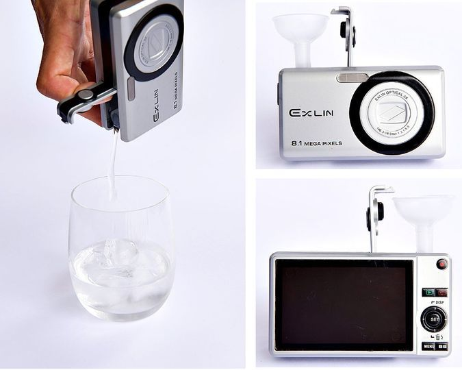 Bev-Cam - The 5 oz Realistic Camera Flask http://coolpile.com/gear-magazine/bev-cam-the-5-oz-realistic-camera-flask/  via CoolPile.com   Amazon.com, Booze Sneaking, Cool, Flasks