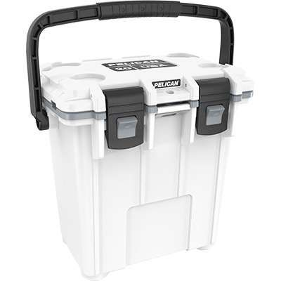 Pelican's 20-Quart White/Grey 20Q 1 WHTGRY Elite Cooler is essentially a traveling freezer. Designed with a freezer-grade seal, this heavily insulated cooler has the ability to retain ice for up to three days in any weather condition.  Your drinks will stay crisp and cold during the whole game! #workingperson #brandsthatwork #pelican #cooler #tailgate #tailgating #football #footballseason #coolweather #cozy #fall #autumn…