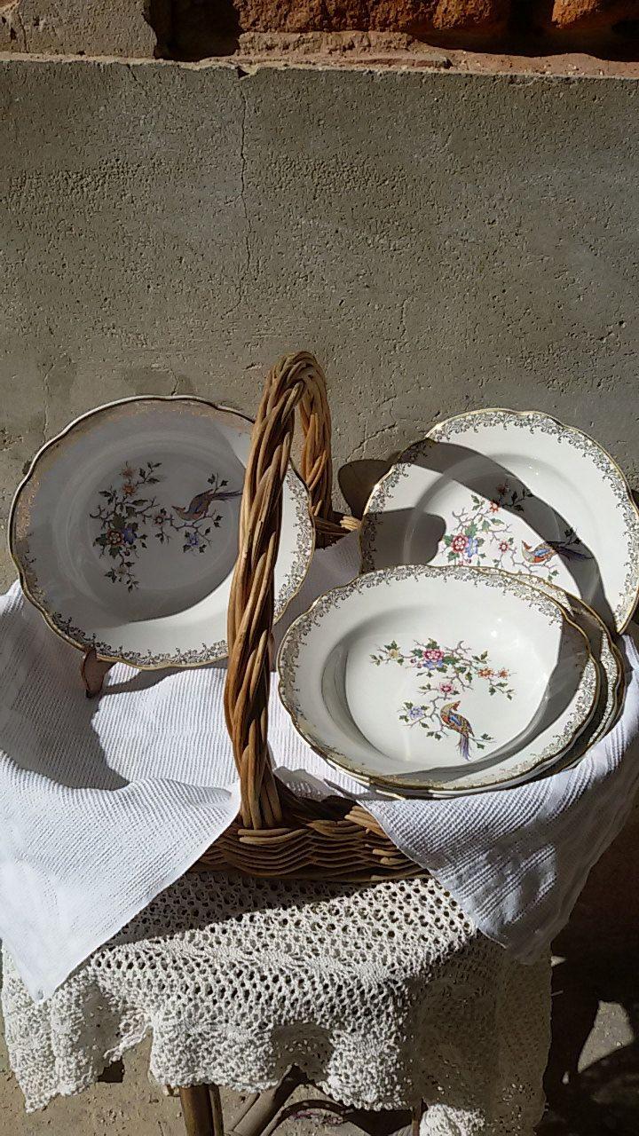 Français 60's/ 6 assiettes creuses, à soupe décor oiseaux de paradis / vintage french  plates de la boutique ChezOdileBrocante sur Etsy