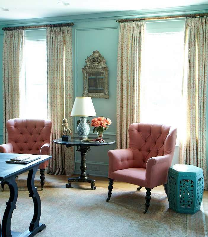 Aqua Blue Living Room Walls And Painted Wainscoting