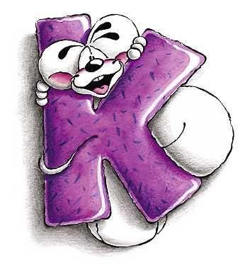 Alfabeto Diddl lettera K