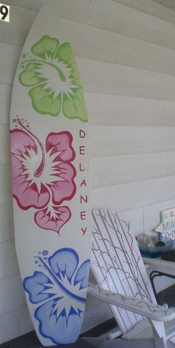 6 foot wood hawaiian surfboard wall art by hopelessromanticshop 119 99
