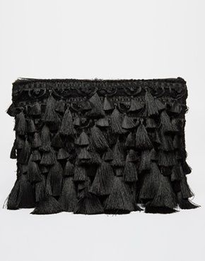 Enlarge ASOS Mega Tassel Clutch Bag
