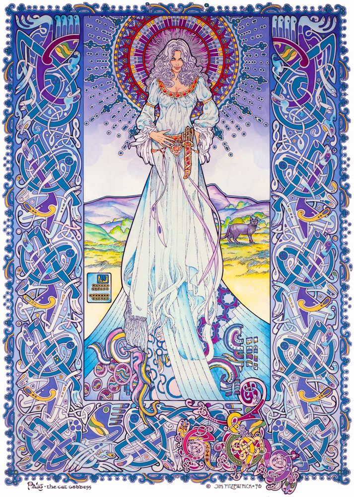 The Celtic Tarot Courtney Davis 9780850309201 Amazon: Palu The Cat Goddess By Jim Fitzpatrick. I've Loved This