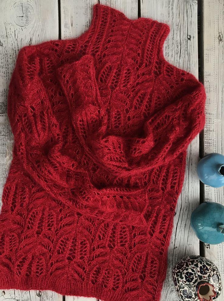 Вязание свитер медвежьи лапки с фото