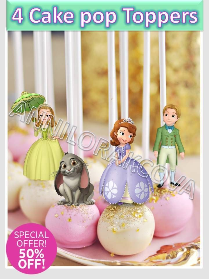 Princess Sofia Cake Pop Toppers