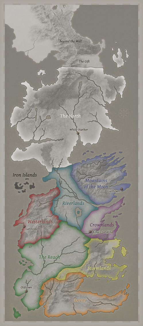 Seven Kingdoms of Westeros #songoficeandfire // Now that is a nice map of Westeros.: Canvas