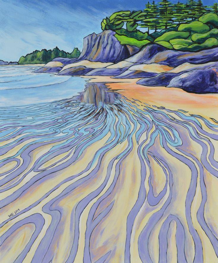 "'South Chesterman Beach, Tofino' 20""x 24"" acrylic on canvas"