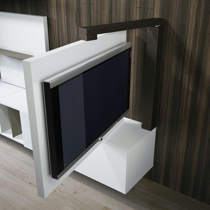 Mobile tv con sistema di rotazione home sweet home pinterest salotto progetti e idee - Porta televisore ikea ...