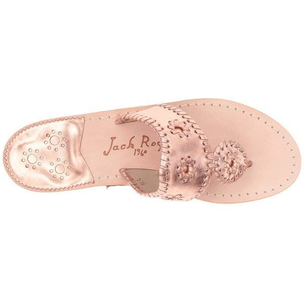 Jack Rogers Westhampton (Rose Gold/Rose Gold) Women's Shoes (155 CAD) ❤ liked on Polyvore featuring shoes, sandals, slip-on shoes, rose gold shoes, slip on shoes, rose gold sandals and jack rogers