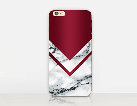 Burgundy Marble Print Phone Case iPhone 7 Case iPhone von CRCases