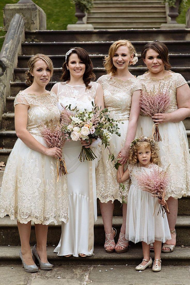 Bridesmaid Dresses Mid Length Chi Chi London Luxe Gold Blush Romantic Wedding http://toastofleeds.co.uk/