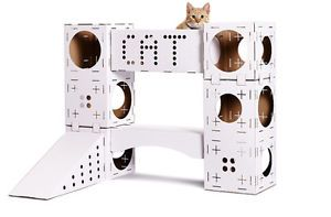 Cat Activity Centre Kitten Toys Castle Cardboard Large Play Boxes ...